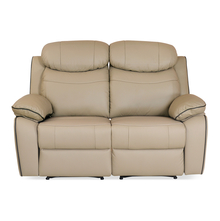 Barbados 2 Seater Sofa with 2 Manual Recliners - @home by Nilkamal, Sand Beige