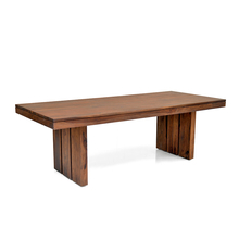 Delmonte 8 seater dining table - @home Nilkamal,  walnut