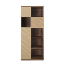 Maestro Storage Cabinet - @home by Nilkamal, Walnut with Sand Beige