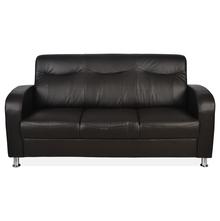 Nilkamal Louisiana 3 Seater Sofa, Dark Brown
