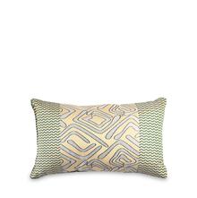 Geo 30 cm x 45 cm Filled Cushion - @home by Nilkamal, Sea Green