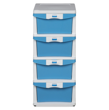 Nilkamal Chester Storage Drawer Series -24, Cream Transparent Blue