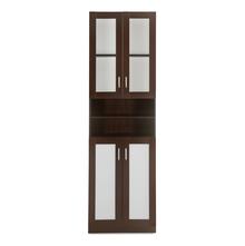 Trivor 2 Door Library Cabinet - @home by Nilkamal, Dark Walnut