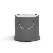 Contessa Side Table With Glass Top - @home Nilkamal,  grey