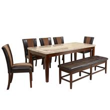 Jenn 1+ 5+ Bench Dining Set - @home by Nilkamal, Beige & Walnut