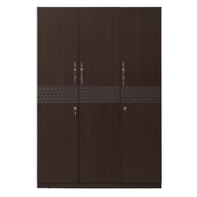 Triumph 3 Door Wardrobe - @home Nilkamal,  dark walnut