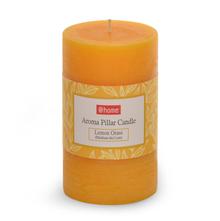 Lemon Medium Pillar Candle - @home by Nilkamal, Yellow