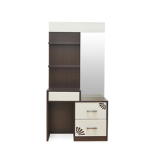 Angel Dresser With half mirror - @home Nilkamal,  brown