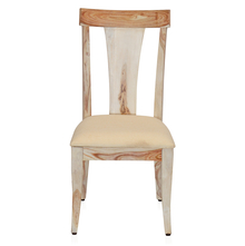 Magix Dining Chair with Cushion - @home by Nilkamal, White Natural