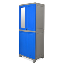 Nilkamal FB1 Freedom Cupboard with 1 Mirror - Deep Blue and Grey