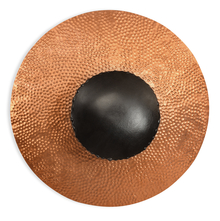 Sun Circle Round Wall Votive Holder - @home By Nilkamal, Gold & Brown