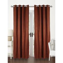 Moshi 112 cm x 214 cm Door Curtain Set of 2 - @home by Nilkamal, Brown