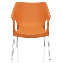 Novella 10 stainless steel Leg With Arm Without Cushion - @home Nilkamal,  orange