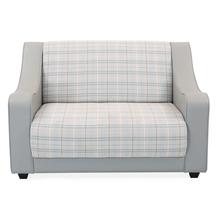 Plaid 2 Seater Sofa - @home by Nilkamal, Smoke Grey