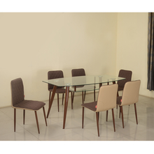 City 6 Seater Dining Kit - @home by Nilkamal, Mocha Brown