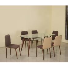 City 6 Seater Dining Kit - @home by Nilkamal, Mocha Brown