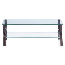 Spring Glass Center Table - @home by Nilkamal, Wenge