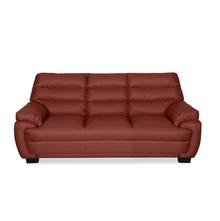 Bradley 3 Seater Sofa - @home by Nilkamal, Maroon