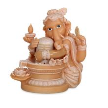 Ganesha & Shiv Water Fountain - @home by Nilkamal, Cream