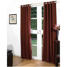 122'x214' Moshi Door Curtain Set of 2 - @home By Nilkamal, Brown