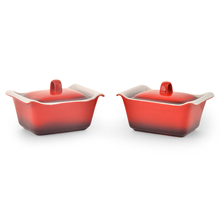 Bergner Set of 2 Casserole with Lid, Red