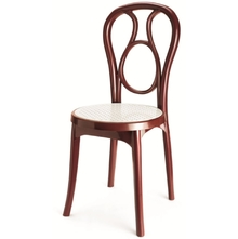 Nilkamal Chair Series 4041, Maroon/Cream