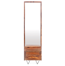 Axial Dresser With Mirror - @home By Nilkamal, Natural