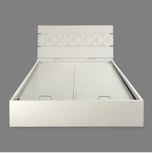 Margery King Bed with Storage - @home by Nilkamal, White