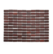 43 cm x 30 cm Checkboard Bamboo Gradation Placemat - @home by Nilkamal, Brown