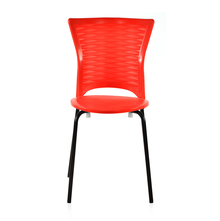 Novella 14 Mild Steel Leg Without Arm Without Cushion - @home Nilkamal,  red