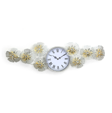 Bloom Crystal Wall Clock - @home by Nilkamal, Gold