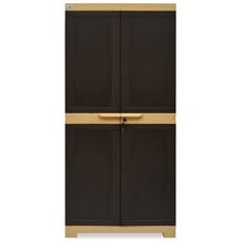 Nilkamal Freedom Mini Medium Cabinet - Weather Brown
