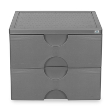 Nilkamal Chester 32 Chest of 2 Drawer, Grey