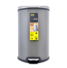 Grace 12 Litre Step Dustbin - @home by Nilkamal, Grey