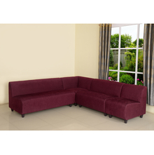 Bolt Sofa Set without Arm - @home by Nilkamal, Maroon