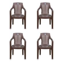 Nilkamal CHR6020 Chair Set of 4 - Weather Brown