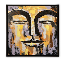 Earthy Buddha Face Picture Frame - @home by Nilkamal, Maroon