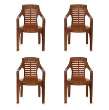 Nilkamal CHR6020 Chair Set of 4 - Pear Wood