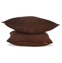 Moshi 40 x 40 cm 2 pieces Cushion Cover - @home by Nilkamal, Brown