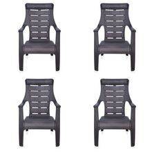 Nilkamal Sunday Garden Chair Set of 4, Weather Brown