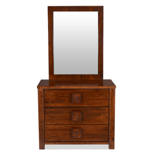 Monalisa Dresser with Mirror - @home By Nilkamal, Caramel Walnut