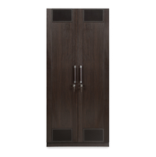 Emirates 2 Door Wardrobe - @home by Nilkamal, Dark Walnut