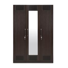 Emirates 3 Door Wardrobe - @home by Nilkamal, Dark Walnut