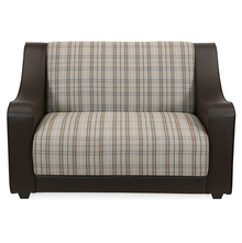 Plaid 2 Seater Sofa - @home by Nilkamal, Cafe Brown, 2 seater