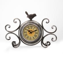 Birdy Table Clock - @home by Nilkamal, Brown