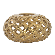 Enchanted Net Candle Holder - @home by Nilkamal, Gold