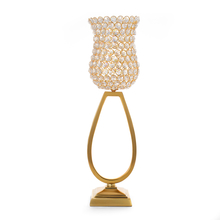 Large Crystal Drops Candle Stand - @home by Nilkamal, Gold