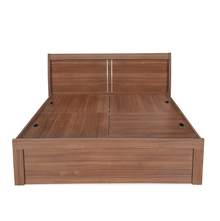 Sansa Queen Bed with Storage - @home by Nilkamal, Walnut