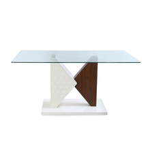 Duro 6 Seater Dining Table - @home by Nilkamal, Walnut & Ivory