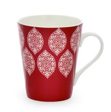 Aroha Damask Coffee Mug - @home by Nilkamal, Maroon